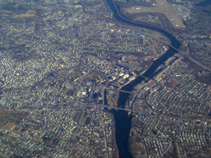 Lawrence MA Aerial View - Courtesy: WikiMedia