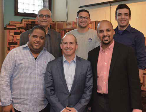 Some of the people who met at El Taller. First row from left, Francisco Paulino, Jay Gonzalez and Pavel Payano. Second row, from left, Pedro Payano, Quinn Gonell and Emmanuel Castañeda.