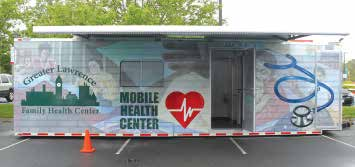 Greater Lawrence Family Health Center's Mobile Health Unit brings health care straight to homeless in the community who may not receive the treatment they need otherwise.