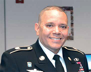 Lawrence native Army Sergeant Major Jose Velazquez visited Lawrence High School on Thursday, October 12, as part of an Army awareness campaign called Meet Your Army designed to reduce the military civilian gap in the U.S.